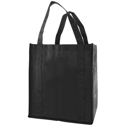 """Grocery Tote, Black, 13"""" x 5"""" x 10"""", 20"""" Handle"""