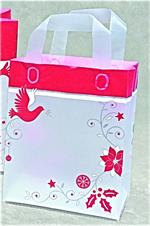 Frosted Plastic Shopping Bag with Loop Handles - Skandia Dove