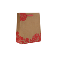 80% Recycled Euro Style Kraft Paper Shopping Bag - Rampage Pattern