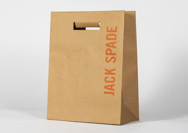 custom imprinted paper euro tote bags with diecut handles