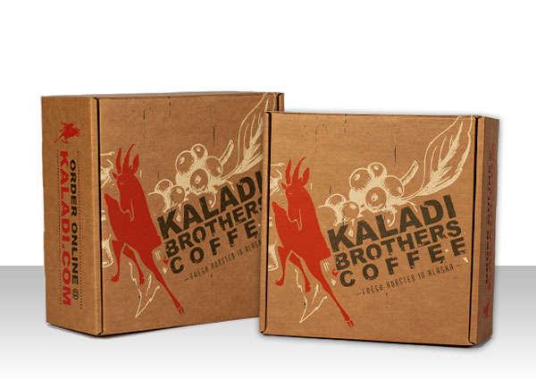 branded shipping boxes kaladi bros coffee