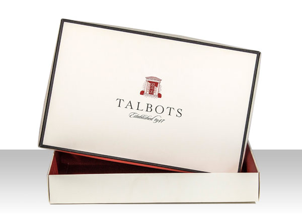 luxury folding retail box talbots