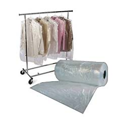 custom garment bags, plastic on a roll, custom imprint your logo
