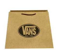 Custom Recycled Kraft Paper Trapezoid Euro Totes