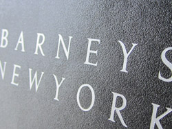 barneys signature embossed shopping bag paper