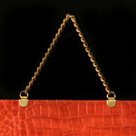 Gold Metal Chain Shopping Bag Handle