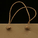Natural Kraft paper Twisted Shopping Bag Handle with Buttons
