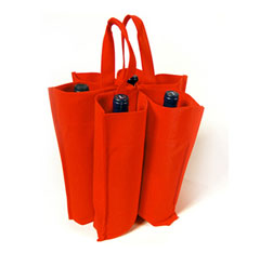 Custom Wine Bottle Tote Bags