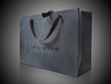 John Varvatos Custom Euro Shopping Bag. Signature Base Paper and Soft Twill Cotton Handle