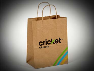Cricket Wireless - Custom Paper Shopping With Twisted Paper Handle