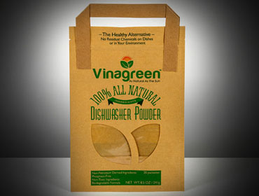 sustainable green eco friendly product packaging made of recycled paper