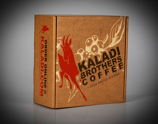 Kaladi Brothers Corrugated Mailing Box