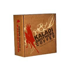 custom kaladi brother coffee corrugated kraft brown paper product boxes