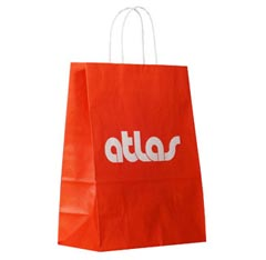atlas full color tint brown kraft paper shopping tote bag