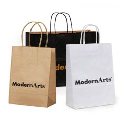 Custom Shopping Bags Paper Handle Kraft