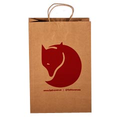 Fjallraven custom kraft paper shopping bags with handle