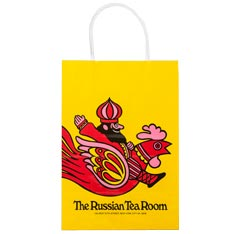 full color custom paper shopping bag with twisted white paper handle