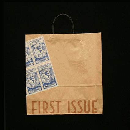 First Issue Stamps Bag