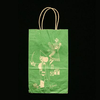 John Wanamaker Green Bag