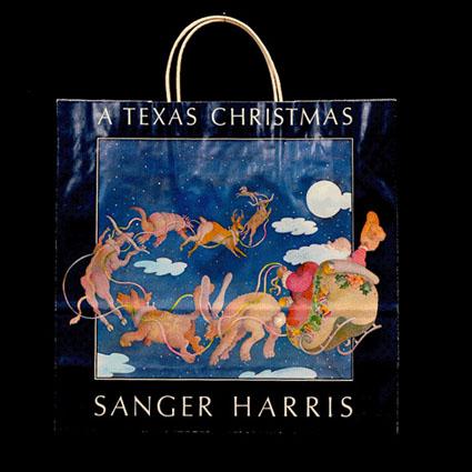 Texas Christmas Shopping Bag
