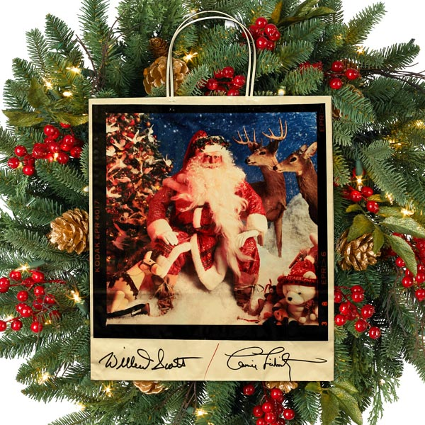 Dayton Hudson Willard Scott Santa Christmas Shopping Bag