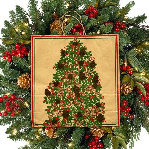 Pomeroys Christmas Tree Holiday Bag
