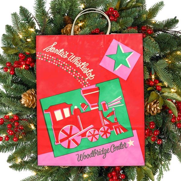 Woodbridge Center Santa's Whistle Stop Shopping Bags