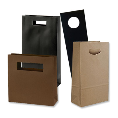 Paper Die Cut Handle Shopping Bags