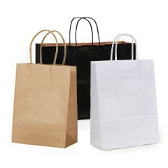 Shopping Bags Paper Twisted Handles Wholesale Retail