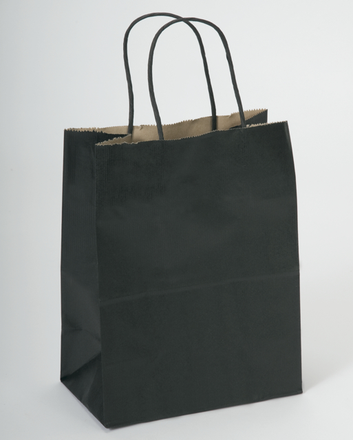 Black Striped Shopping Bag