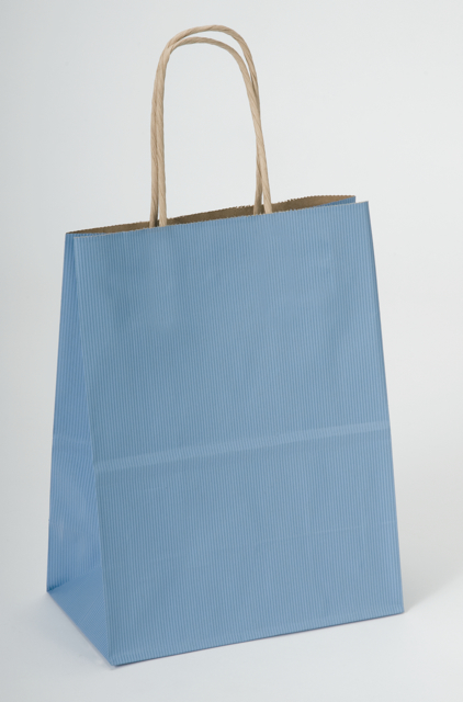 Country Blue Kraft Shopping Bags