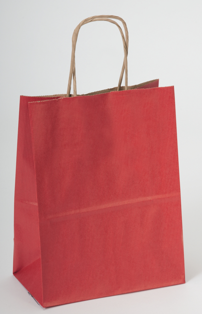 Really Red Kraft Paper Shopping Bag