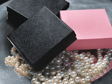 2-Piece Jewelry Boxes - Black Swirl or Pink