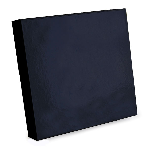 glossy black magnetic retail folding boxes 9-1/4 x 9-1/2 x 1-3/4