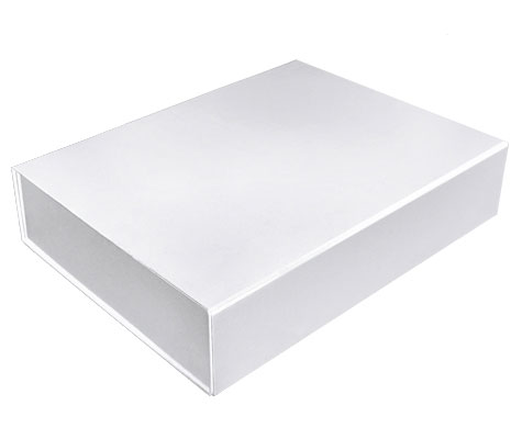 glossy white magnetic retail folding boxes 14-3/8 x 10-3/4 x 3-1/8