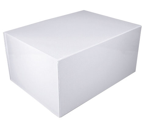 glossy white magnetic retail folding boxes 16 x 12 x 8