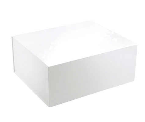 glossy white magnetic retail folding boxes 13 x 10-3/4 x 5-1/2