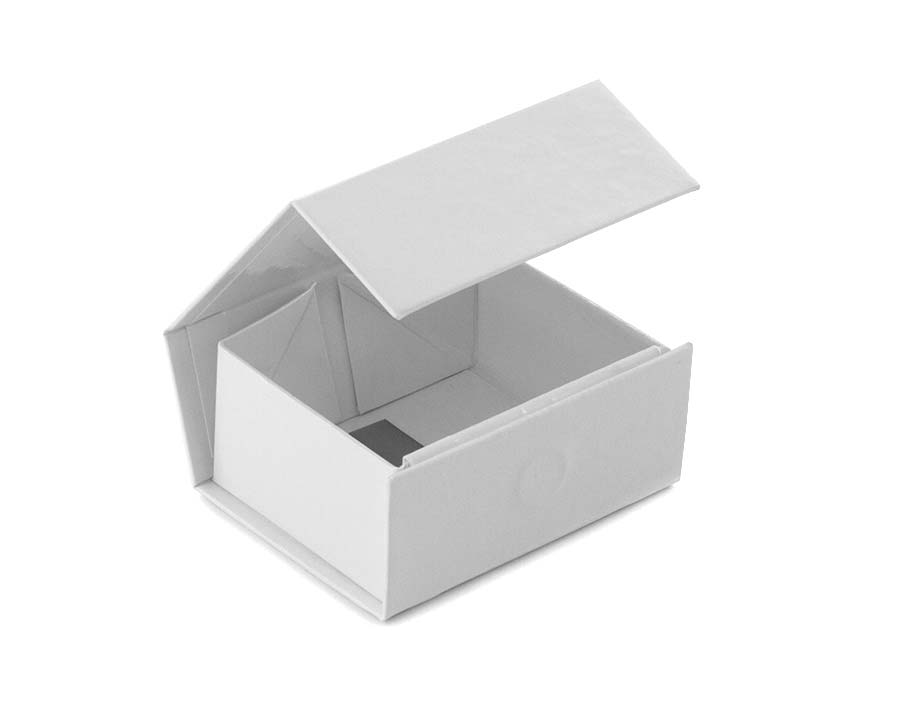 glossy white magnetic folding boxes for retail or gifts