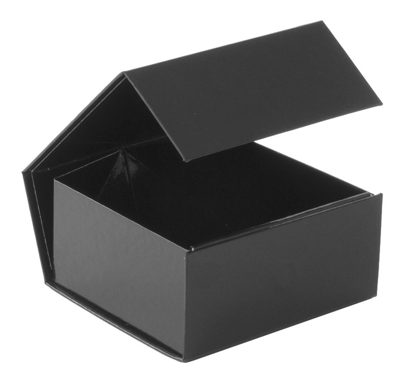 glossy black magnetic retail folding boxes