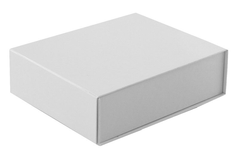 glossy white magnetic retail folding boxes