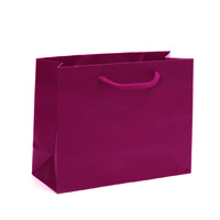Matte Maroon Shopping Bag