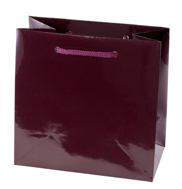 Soft Handle Euro-Style Tote Bag - Shiny Maroon