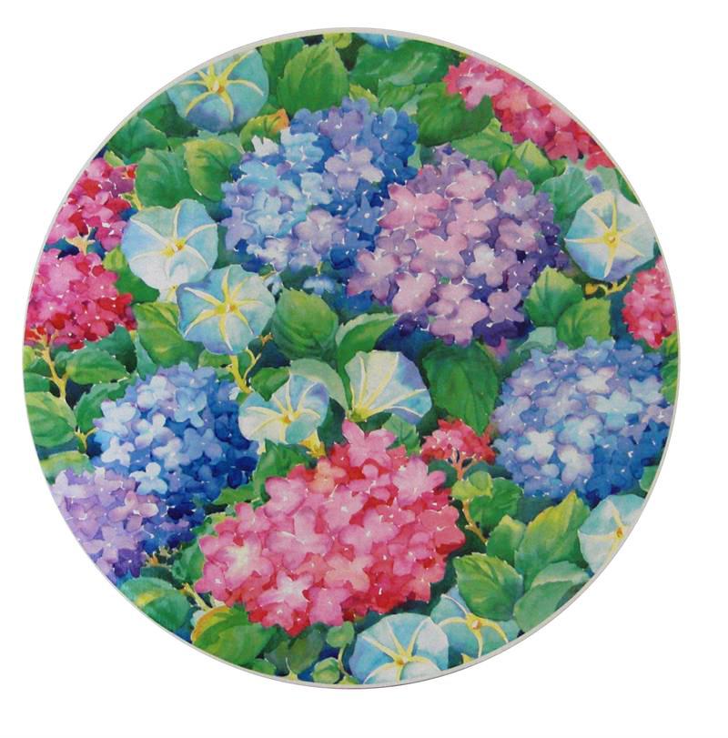 Hydrangea Blooms Hat Box Lid