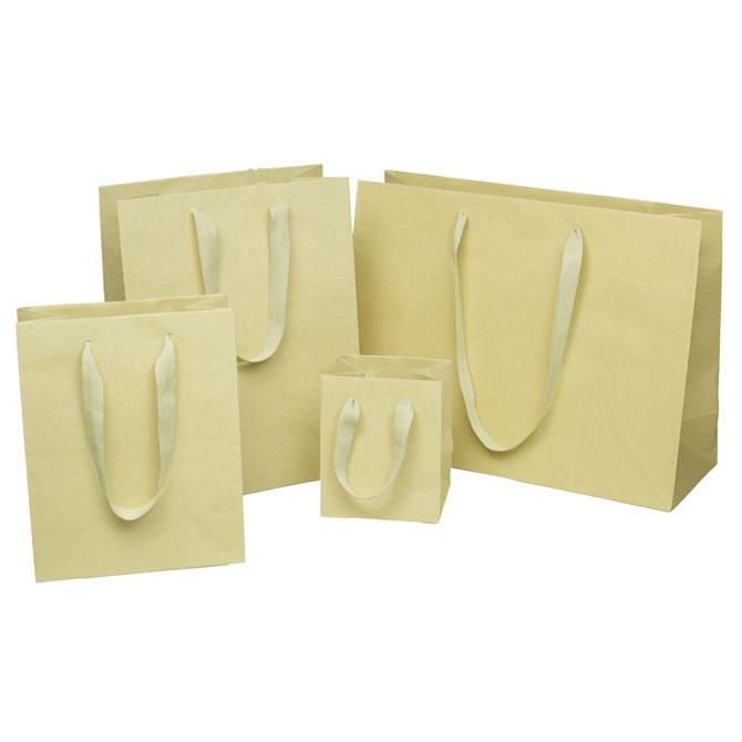 100% Bamboo Paper Shopping Bags Euro Totes - Environmentally Friendly