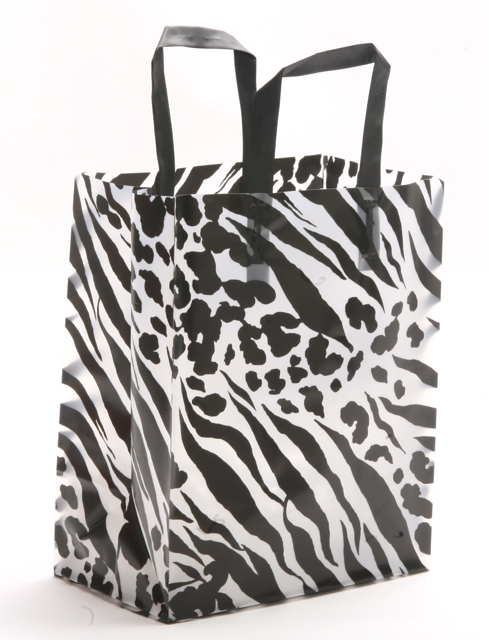 Black and White Plastic Bag Skins Pattern