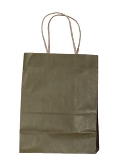 Kraft Paper Shopping Bag with Kraft Paper Handles - Matte Olive GreenTint