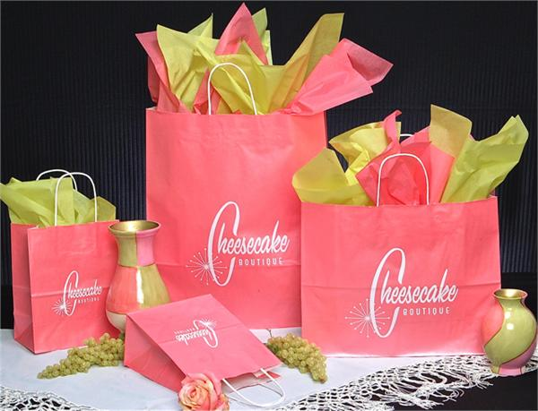 Island Pink Paper Bag