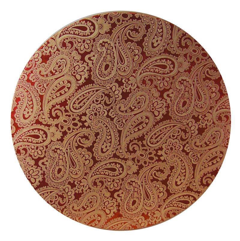 Red Paisley Hat Box Lid