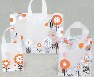 Frosted Plastic Shopping Bag with Loop Handles - Solaris