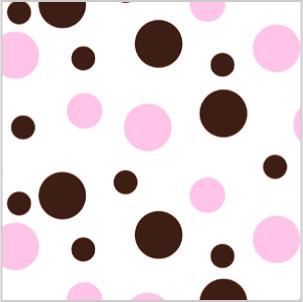 NEAPOLITAN PINK-BROWN DOTS Tissue Paper